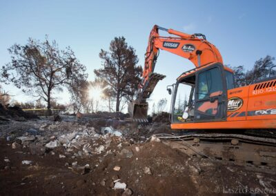 California Wind Complex Fire Debris Removal